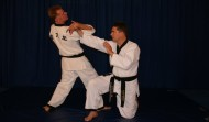 Alain performing a Hapkido joint lock, 2011