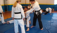 Alain teaching a joint lock seminar, Boise, ID, 2005
