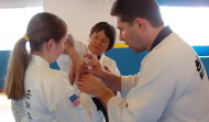 Alain teaching Hapkido joint locks in Boise, ID, 2004